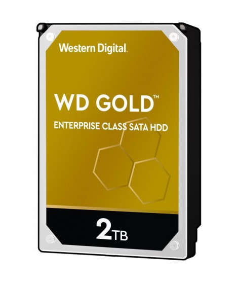 WD Disque dur interne Gold - 2To - 128Mo - 3.5  WD2005FBYZ