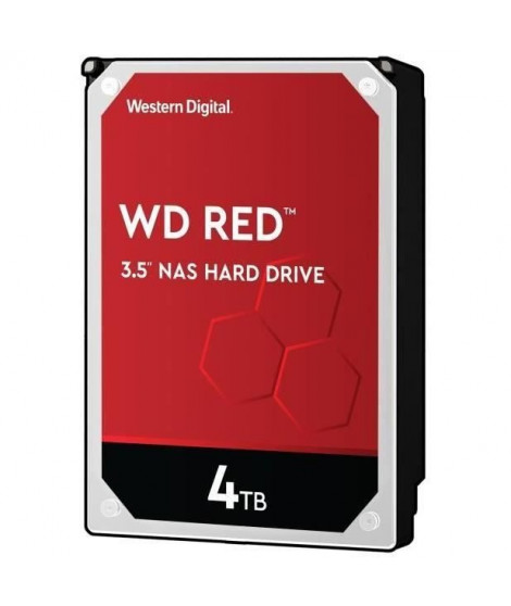 WD Red™ - Disque dur Interne NAS - 4To - 5 400 tr/min - 3.5 (WD40EFAX)