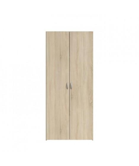 VARIA Armoire 2 portes décor chene L81 cm