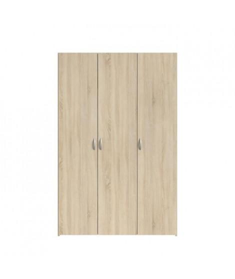 VARIA Armoire 3 portes décor chene L120 cm