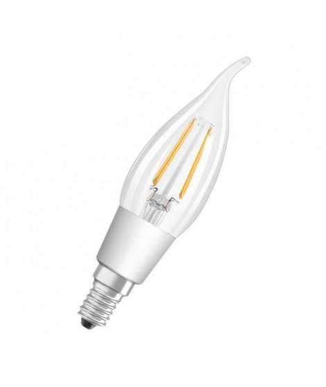 OSRAM Ampoule LED E14 flamme claire 4,5 W équivalent a 40 W blanc chaud dimmable variateur