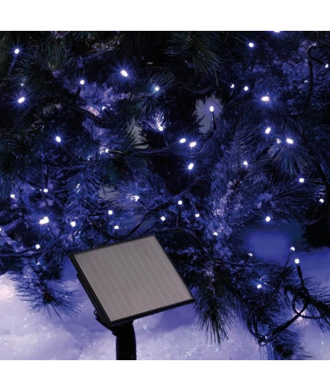 CODICO Guirlande solaire lumineuse - 96 LED - 10 m - Bleu