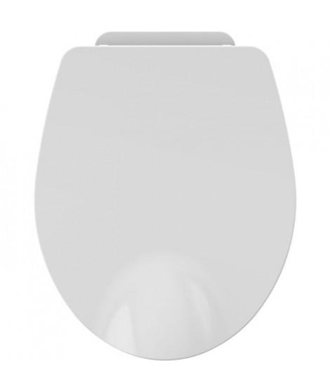 ALLIBERT Abattant de toilette a fermeture silencieuse Nighty 2 - Blanc brillant