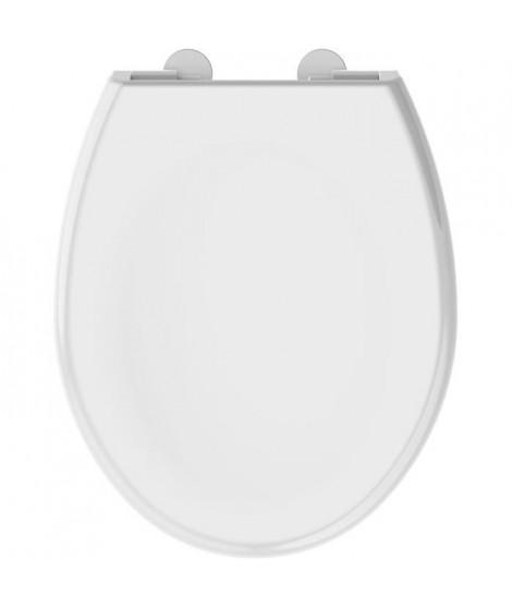 ALLIBERT Abattant de toilette a fermeture silencieuse Boreo - Blanc brillant