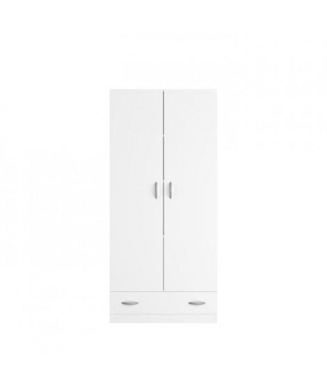 VARIA Armoire 2 portes décor blanc L78 cm
