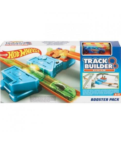 HOT WHEELS - Booster Pack - Kit pour circuit voitures : comprend 1 véhicule, 2 segments de piste et 1 booster