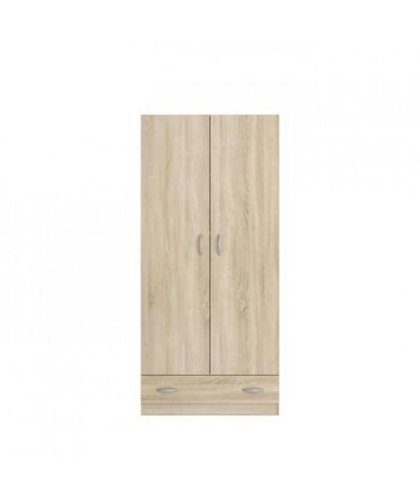 VARIA Armoire 2 portes décor chene L78 cm