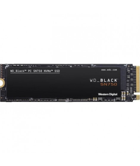 WD - SSD Interne - Black SN750 NVMe SSD - 1To - M.2 (WDS100T3X0C-00SJG0)