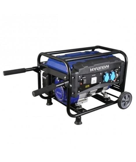 HYUNDAI Groupe électrogene a essence de chantier HG2700 - 2500 W a 2700 W - Bleu et noir