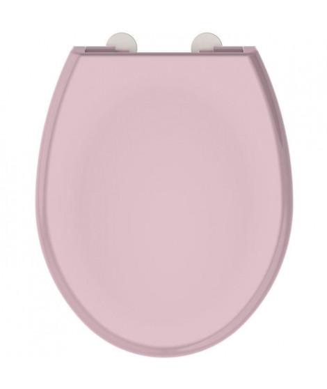 ALLIBERT Abattant de toilette a fermeture silencieuse Boreo - Rose poudré