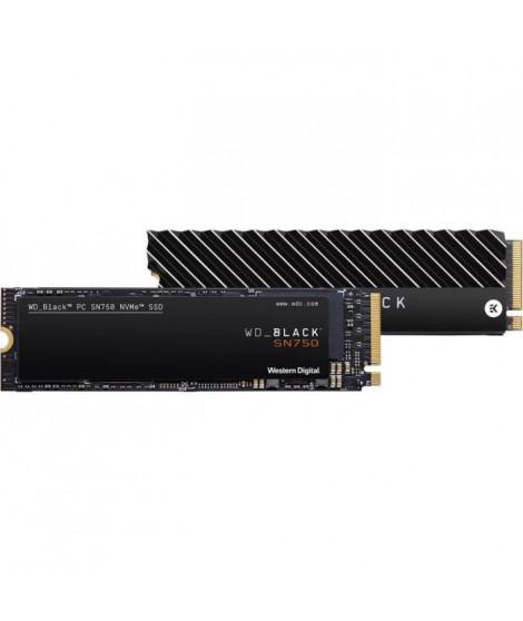 WD - SSD Interne - Black SN750 NVMe SSD - 500Go - M.2 (WDS500G3X0C-00SJG0)