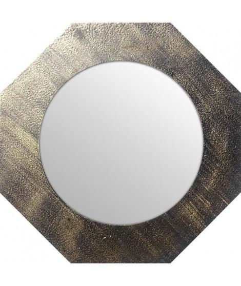 Miroir d'intérieur ortogonal - Mdf - Ø40 cm - Or métalisé