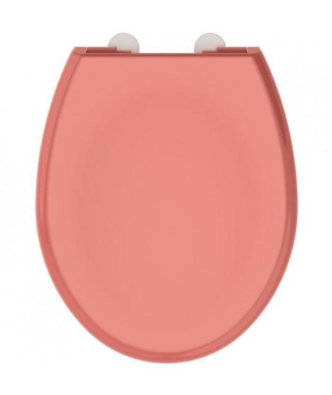 ALLIBERT Abattant de toilette a fermeture silencieuse Boreo - Corail brillant