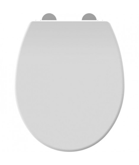 ALLIBERT Abattant de toilette a fermeture silencieuse Dolceo - Blanc mat