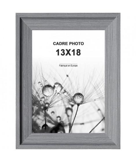 Cadre photo Relieve en Mdf - 13x18 cm -  Moulure 25x19 mm - Pin Gris