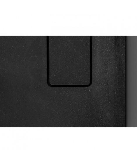 ALLIBERT Receveur de douche effet pierre Terreno - 80x80 cm - Noir