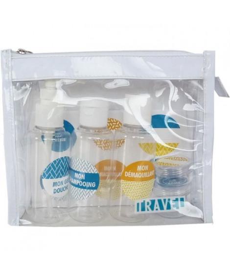 GLAMOUR SPA - TROUSSE SPECIAL VOYAGE - 3 tubes transparents + 2 pots