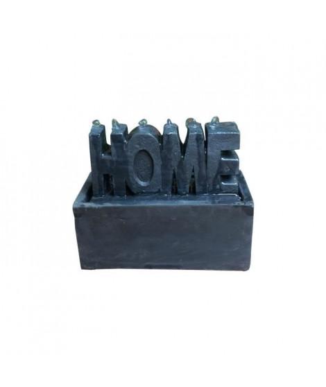 Fontaine lumineuse Home - 9,5 x 20 x H15 cm - Polyresine - Noir