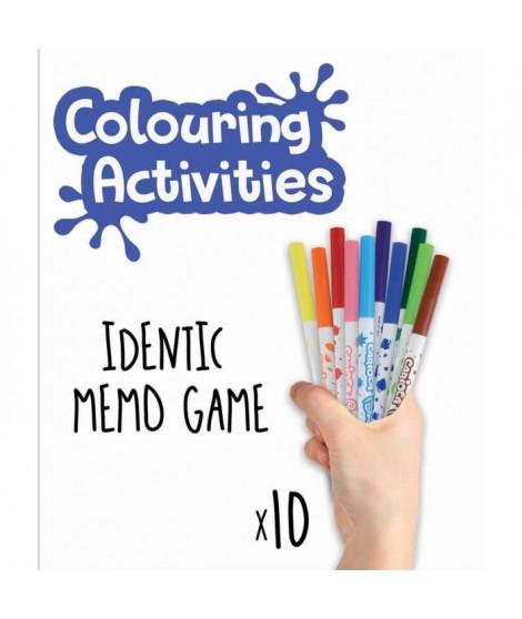 EDUCA - malette jeu memo identic parfumé a colorier