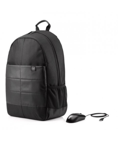HP Sac a dos PC Portable Classic Backpack 1FK05AA - 15,6 - Noir