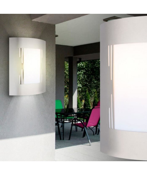 GLOBO LIGHTING Applique extérieure inox - Plastique opal