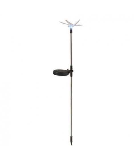 Globo Lighting Papillon solaire sur tige inox - Plastique noir - Plastique translucide - IP44