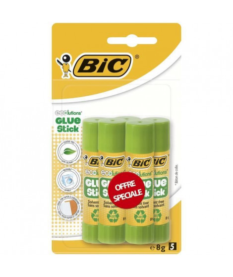 BIC - Colle  BIC ECOlutions - 5 x 8g