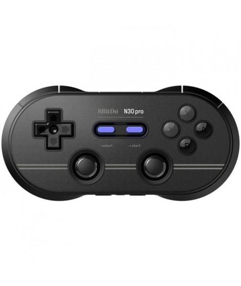 Manette Gamepad bluetooth noire 8Bitdo N30 Pro2 pour Switch