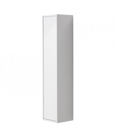 GIRONA Colonne de salle de bain L 25 cm - Blanc laqué brillant