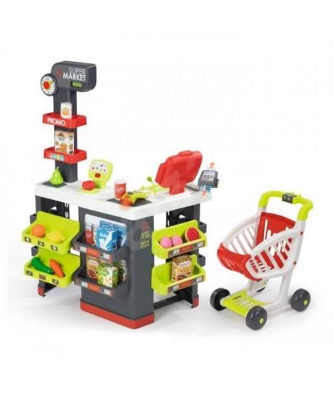 SMOBY Super Market avec Chariot + 42 Accessoires