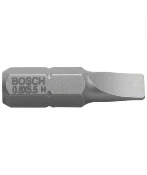 BOSCH Embout pour vis a fente 8 mm extra-dur - Forme E 6.3