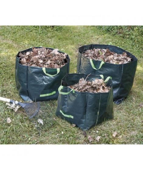 COGEX Lot de 3 sacs a déchets végétaux en polyéthylene - Autostable - 70 L, 100 L et 170 L
