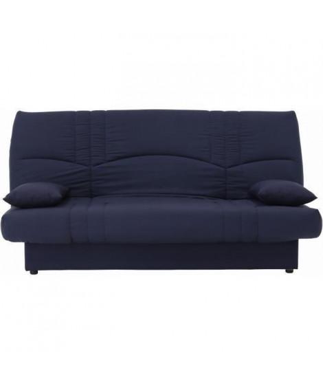DREAM Banquette clic clac 3 places - Tissu bleu foncé - Slyle contemporain - L 190 x P 92 cm