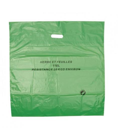 COGEX Lot de 3 sacs a déchets végétaux en polyéthylene - Autostable - 110 L