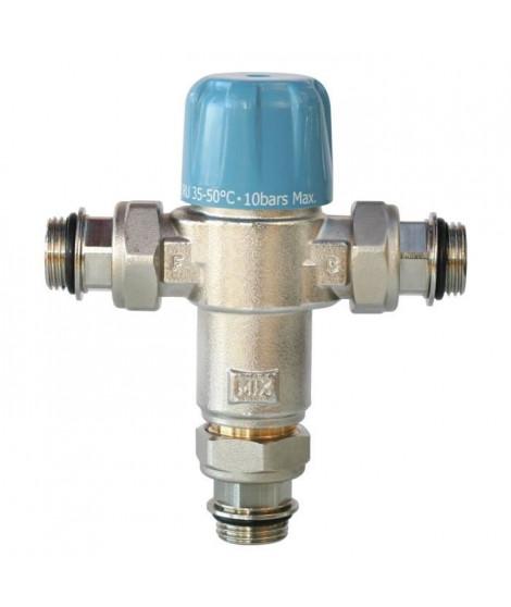 SOMATHERM Limiteur Thermostatique Réglable NF de 35 a 50°C - Avec Clapets Anti-Retours 3/4 pour Chauffe Eau