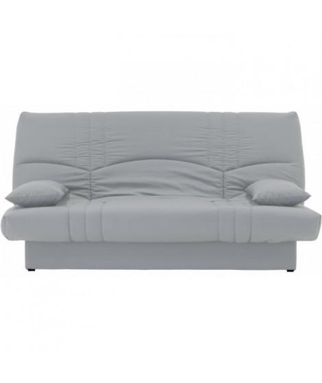 DREAM Banquette clic clac 3 places - Tissu gris clair - Slyle contemporain - L 190 x P92 cm