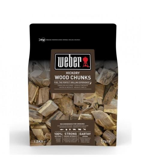 WEBER Gros morceaux de bois de fumage Hickory