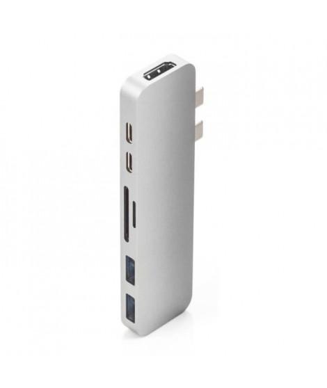 MOBILITY - HyperDrive DUO Station d'accueil - 2 x USB-C vers HDMI - USB-C - Thunderbolt 3, 2 x USB 3.1 - microSD + SD- Silver