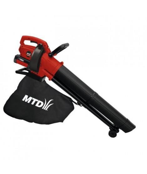 MTD Aspirateur souffleur a batterie 36 v 550 w 4 ah vitesse air 76,6 m/s debit 223 m3/h 2 vitesses batterie et chargeur en op…