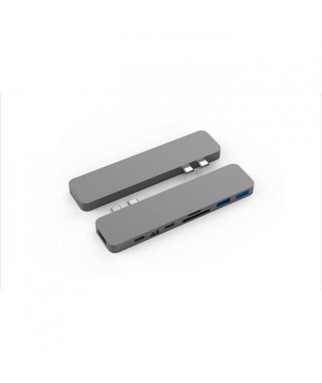 MOBILITY - HyperDrive PRO - 2xUSB-C vers HDMI 4K - mini DisplayPort 4K - USB-C 100W / 60W - SD - microSD - 2xUSB 3.1 - Gris S…