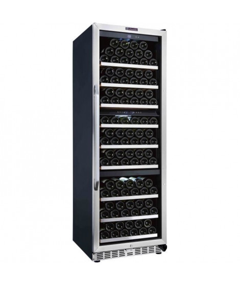 LA SOMMELIERE MZ3V180-Cave mixte 3 Zones de température-166 bouteilles-porte vitrée-9 clayettes coulissantes+avec fronton inox-B