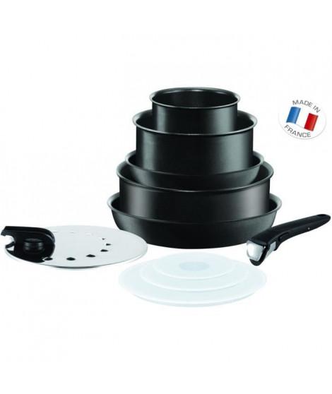 TEFAL INGENIO PERFORMANCE - Batterie de cuisine 10 pieces - Noir