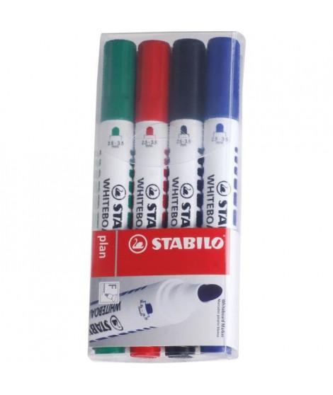 STABILO Plan - 4 marqueurs effaçable a sec - pointe ogive
