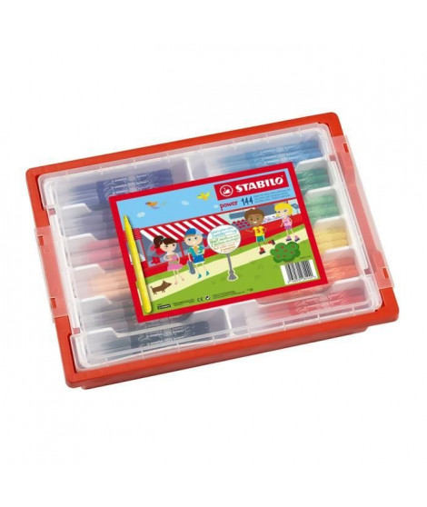STABILO - Schoolpack - lot de 144 feutres de coloriage