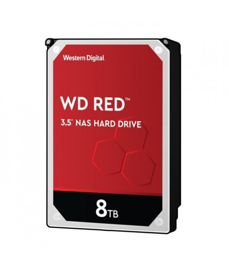 WD Red™ - Disque dur Interne NAS - 8To - 5 400 tr/min - 3.5 (WD80EFAX)