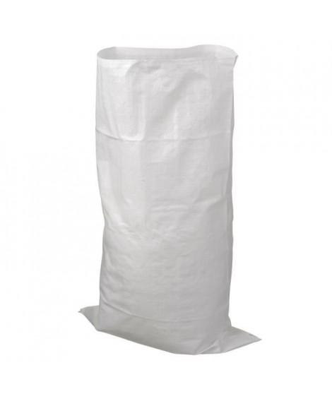 NATURE Sac a déchets matériaux bati - Blanc - 60 l - H100xØ60 cm