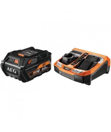AEG POWERTOOLS Chargeur rapide + 1 batterie 18 Volts Li-Ion 6,0Ah