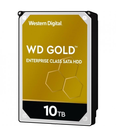 WESTERN DIGITAL Stockage interne Gold™ SATA HDD de classe entreprise, 10To
