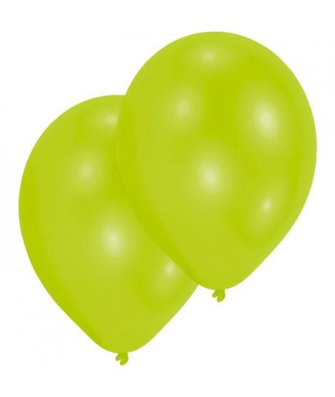 AMSCAN Lot de 10 Ballons en latex Premium 27,5 cm/11'' - Citron vert