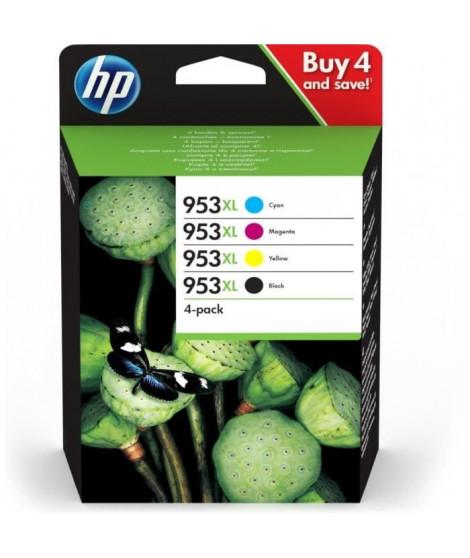 HP 953XL pack de 4 cartouches noire/cyan/magenta/jaune authentiques pour HP OfficeJet Pro 8710/8715/8720 (3HZ52AE)